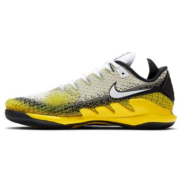 Nike Air Zoom Vapor X Knit Mens Tennis Shoe White/Black/Speed Yellow AR0496 004