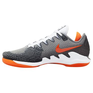 Nike Air Zoom Vapor X Knit Mens Tennis Shoe Metallic Dark Grey/Smoke Grey/Total Orange AR0496 005