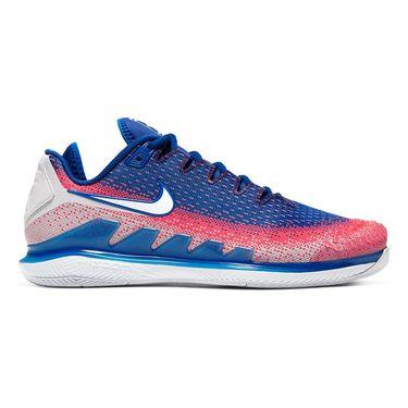 Nike Court Air Zoom Vapor X Knit Mens Tennis Shoe White/Game Royal/Flash Crimson AR0496 103