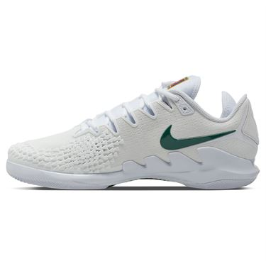Nike Court Air Zoom Vapor X Knit Mens Tennis Shoe White/Clover/Gorge Green AR0496 111