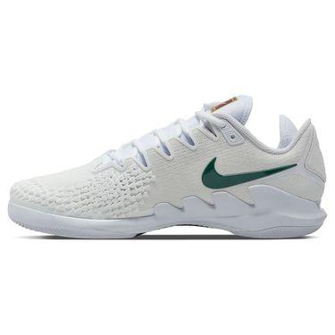 Nike Court Air Zoom Vapor X Knit Mens Tennis Shoe White/Clover/Gorge Green AR0496 111