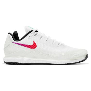 Nike Air Zoom Vapor X Knit Mens Tennis Shoe Summit White/Black/Electro Green AR0496 112