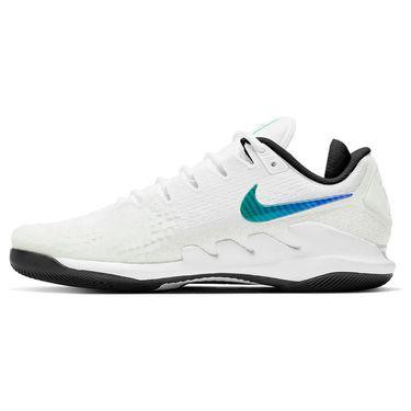Nike Air Zoom Vapor X Knit Mens Tennis Shoe Summit White/Black/Electro Green AR0496 112