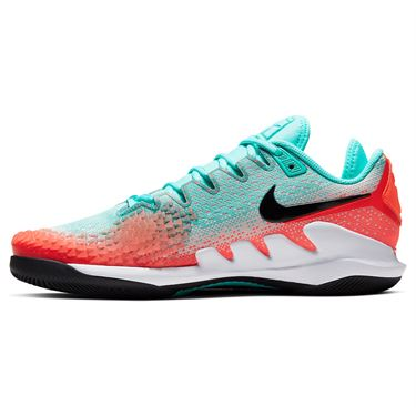 Nike Court Air Zoom Vapor X Knit Mens Tennis Shoe Aurora Green/Black/Hyper Crimson AR0496 300