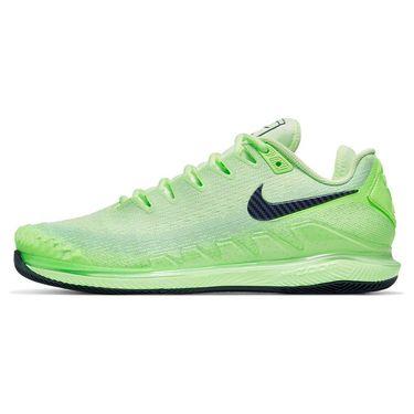 Nike Court Air Zoom Vapor X Knit Mens Tennis Shoe Ghost Green/Blackened Blue/Barely Volt AR0496 302