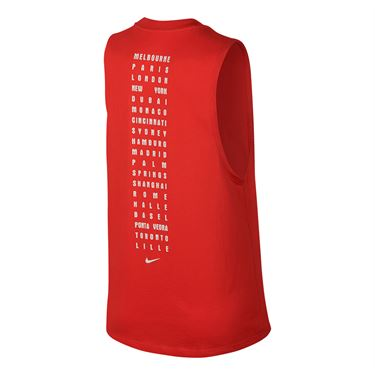 Nike Court RF Muscle Tank - Habanero Red