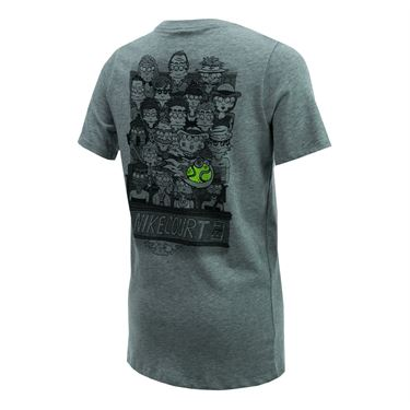 Nike Boys Court Tee - Dark Grey Heather