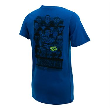 Nike Boys Court Tee - Military Blue