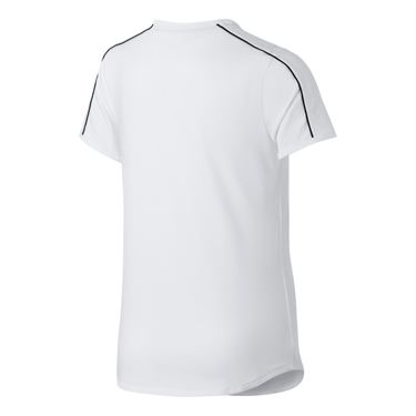Nike Girls Court Dri-FIT Top - White/Black
