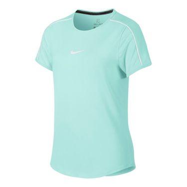 Nike Girls Court Dri Fit Top - Teal Tint/White