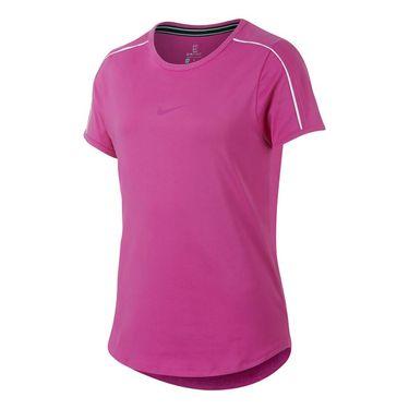 Nike Girls Court Dri-FIT Top - Active Fuchsia/White