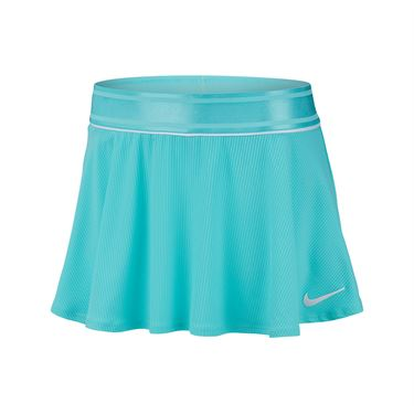 Nike Girls Court Dri Fit Skirt - Light Aqua/White