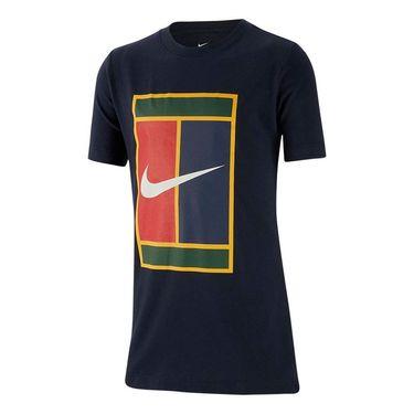 Nike Boys Court Heritage Tee - Obsidian/White
