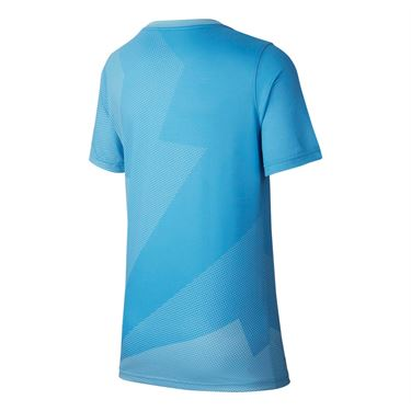 Nike Boys Court Rafa Graphic Tee - Blue Gaze/Total Orange