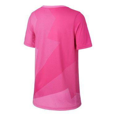 Nike Boys Court Rafa Graphic Tee - Psychic Pink/Thunder Grey