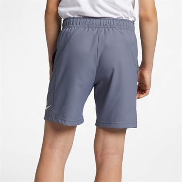 Nike Boys Court Dri Fit Short - Light Carbon/White