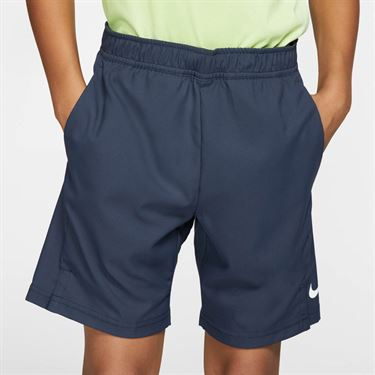 Nike Boys Court Dri Fit Short - Obsidian/White