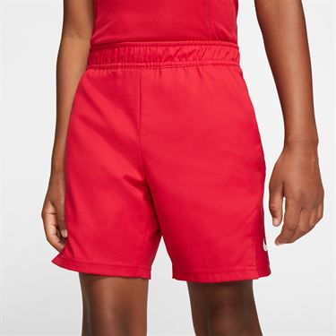 Nike Boys Court Dri Fit Short Gym Red/White AR2484 687