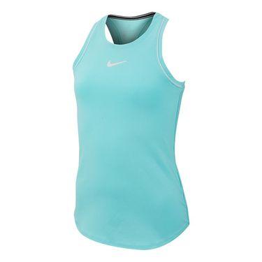 Nike Girls Court Dry Tank - Light Aqua/White