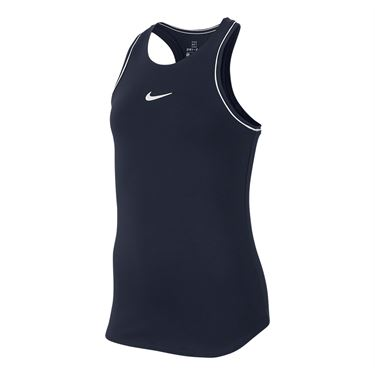 Nike Girls Court Dry Tank Obsidian/White AR2501 451