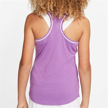 Nike Girls Court Dry Tank Purple Nebula/White AR2501 532