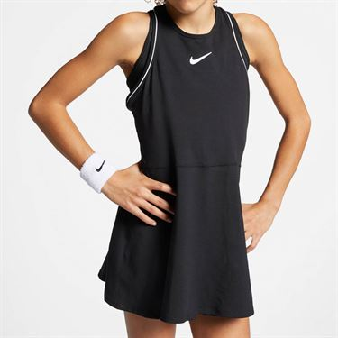 Nike Girls Court Dry Dress - Black/White
