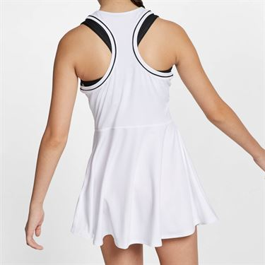 Nike Girls Court Dry Dress - White/Black