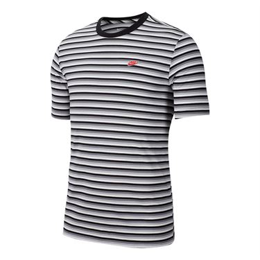 Nike Sportswear Tee - Wolf Grey/Black/Habanero Red