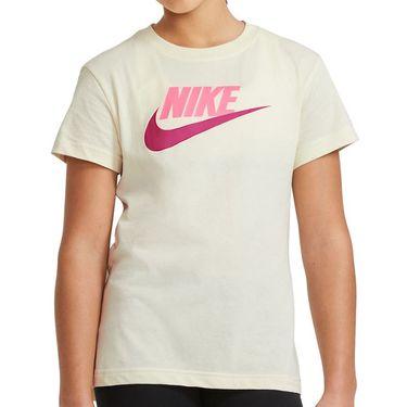 Nike Sportswear Girls Tee Shirt Coconut Milk AR5088 113