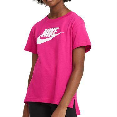 Nike Sportswear Girls Tee Shirt Fireberry AR5088 615