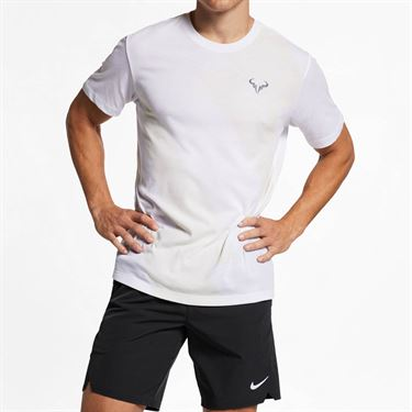 Nike Court Rafa Tee - White/Light Carbon