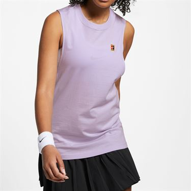 Nike Court Heritage Tank - Oxygen Purple/Multi Color