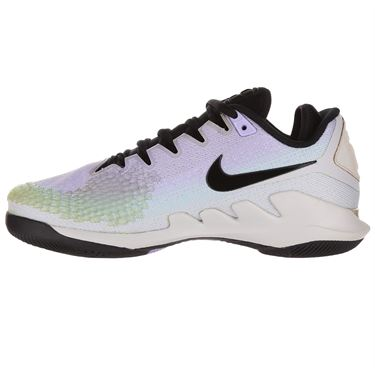 Nike Air Zoom Vapor X Knit Womens Tennis Shoe - Pure Platinum/Black/Purple Agate