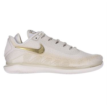 Nike Court Air Zoom Vapor X Knit Womens Tennis Shoe Phantom/Metallic Gold AR8835 003