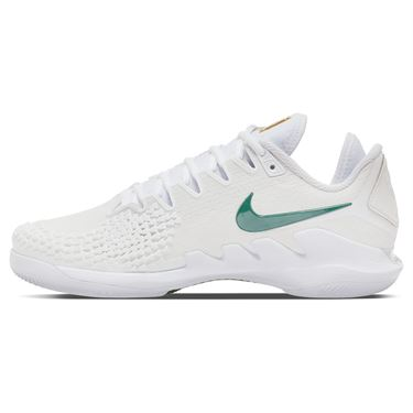 Nike Court Air Zoom Vapor X Knit Womens Tennis Shoe White/Clover/Gorge Green AR8835 111