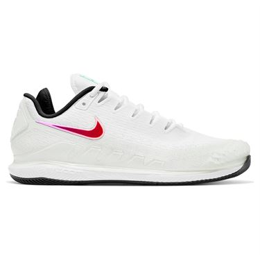Nike Court Air Zoom Vapor X Knit Womens Tennis Shoe Summit White/Black/Electro Green AR8835 112