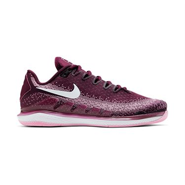Nike Court Air Zoom Vapor X Knit Womens Tennis Shoe Bordeaux/White/Pink Rise AR8835 600