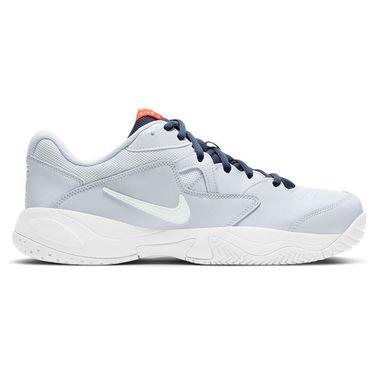 Nike Court Lite 2 Mens Tennis Shoe Football Grey/White/Obsidian/Team Orange AR8836 006