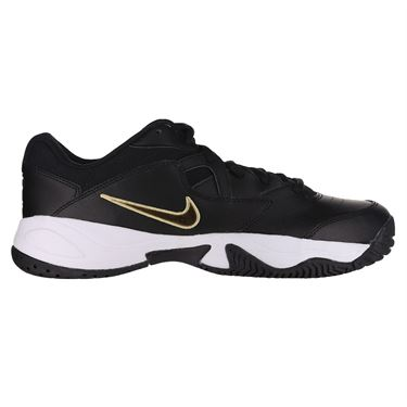 Nike Court Lite 2 Mens Tennis Shoe Black/Metallic Gold/White AR8836 012