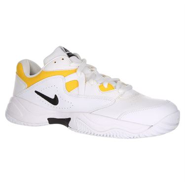 Nike Court Lite 2 Mens Tennis Shoe - White/Black/White/University Gold