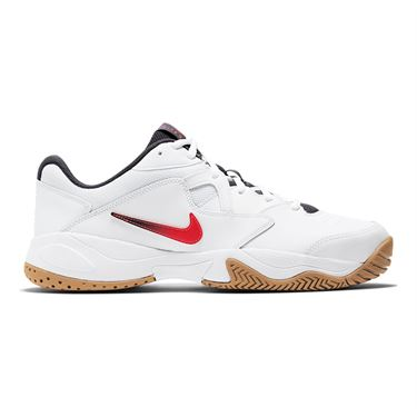 Nike Court Lite 2 Mens Tennis Shoe White/Laser Crimson/Gridiron/Wheat AR8836 102