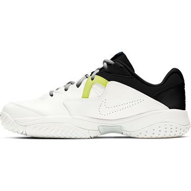 Nike Court Lite 2 Mens Tennis Shoe White/Neo Turquoise/Hot Lime/Light Smoke Grey AR8836 104