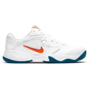 Nike Court Lite 2 Mens Tennis Shoe White/Team Orange/Green Abyss/Praline AR8836 105