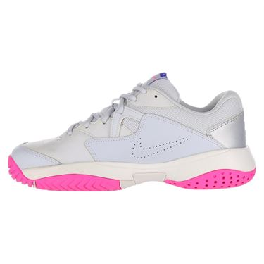 Nike Court Lite 2 Womens Tennis Shoe - Pure Platinum/Racer Blue/Metallic Platinum