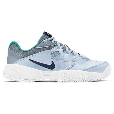 Nike Court Lite 2 Womens Tennis Shoe Football Grey/Midnight Navy AR8838 004