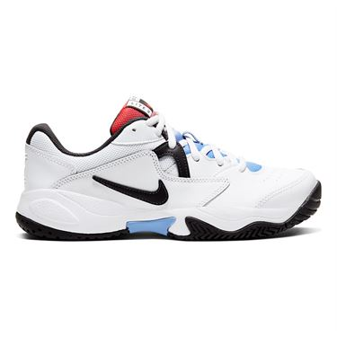 Nike Court Lite 2 Womens Tennis Shoe White/Thunder Grey/Laser Crimson AR8838 103