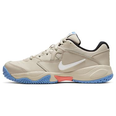 Nike Court Lite 2 Womens Tennis Shoe Light Orewood Brown/White/Royal Pulse AR8838 105