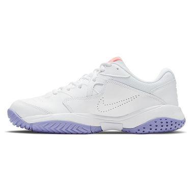 Nike Court Lite 2 Womens Tennis Shoe White/Bright Mango/Purple Pulse AR8838 110