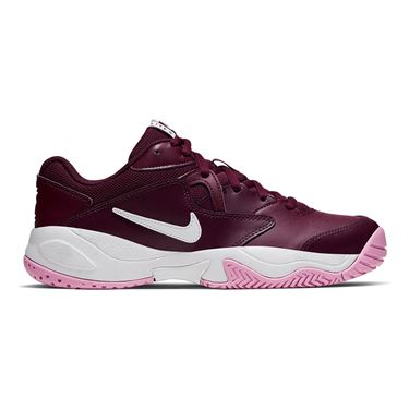 Nike Court Lite 2 Womens Tennis Shoe Bordeaux/White/Pink Rise AR8838 603
