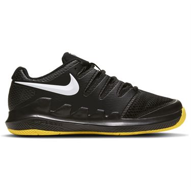 Nike Junior Court Vapor X Tennis Shoe Black/White/Speed Yellow AR8851 003